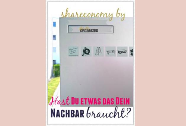 Shareconomy – hast du etwas das dein Nachbar braucht?