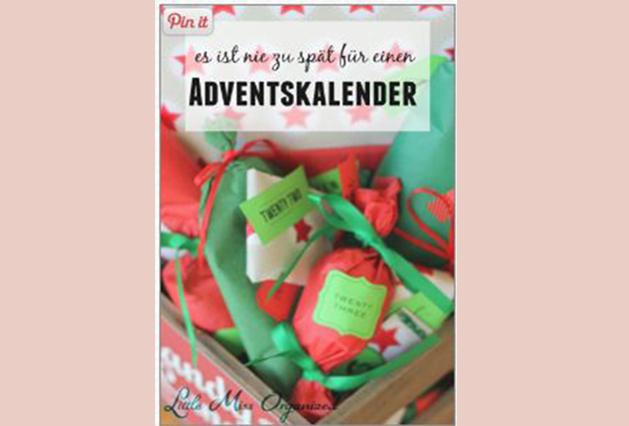 Es ist nie zu spät einen Adventskalender zu verschenken!!!